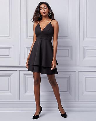 Le Château Knit Fit & Flare Skater Dress