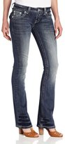 Miss Me Juniors Western Themed Embroidered Bootcut Jean