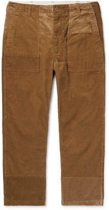 Engineered Garments Patchwork Cotton-Corduroy Trousers