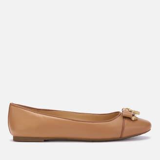 MICHAEL Michael Kors Women's Alice Leather Ballet Flats - Acorn