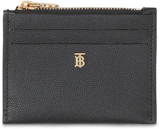 Burberry Simone Grained Leather Card Holder