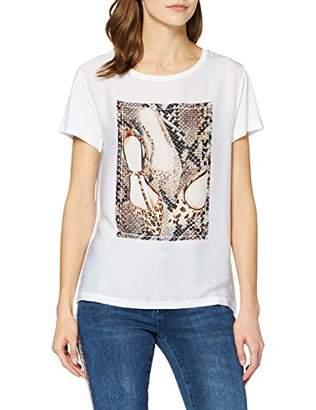 Rich & Royal rich&royal Women's T-Shirt Mit Shuhdruck,Medium