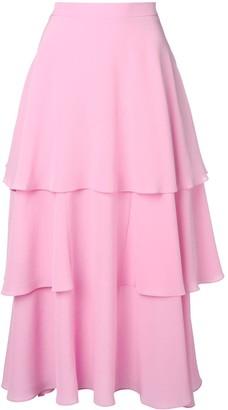Stella McCartney Soft Frill Tiered Skirt