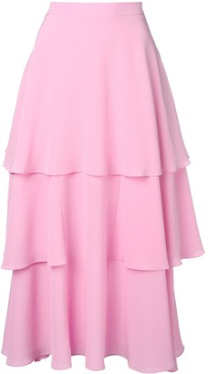 Stella McCartney soft frill tiered skirt