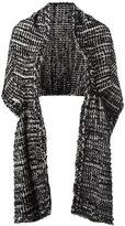 Simone Rocha woven poncho - women - Cotton/Nylon/Viscose/Wool - One Size