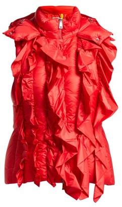 Simone Rocha 4 Moncler Marianne Ruffled Gilet - Womens - Red