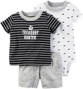 "Carter's Baby Boy Treasure Hunter"" Tee, Whale Bodysuit & Pants Set"
