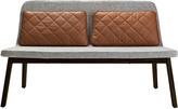 Houseology addinterior LEAN 2 Chair Grey - Black Oak Legs - Cognac Cushions