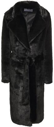 Stand Studio Juliet Belted Faux Fur Coat