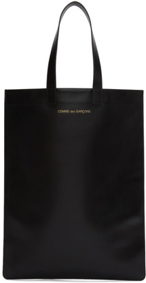 Comme des Garcons Wallets Black Leather Classic Tote