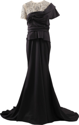 Marchesa Crystal Illusion Jersey Gown