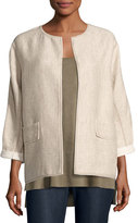 Lafayette 148 New York Beatriz Rustica Cotton/Linen Jacket, Multi