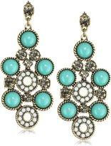 Rachel Leigh Brass Plated Chandelier Earrings