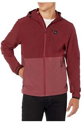 Rip Curl Surf Revival Elite Jacket (Burgundy) Men's Clothing