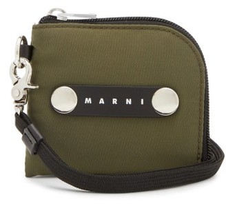 Marni Technical-canvas Wallet - Green