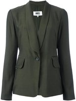 MM6 MAISON MARGIELA shawl lapel blazer - women - Viscose/Wool - 40