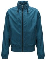 HUGO BOSS - Water Repellent Blouson Jacket With Packable Hood - Blue