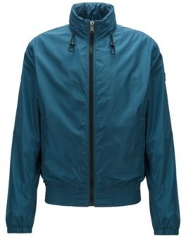HUGO BOSS Water Repellent Blouson Jacket With Packable Hood - Blue