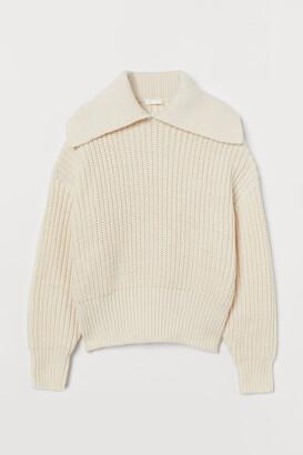 H&M Collared rib-knit jumper