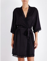 Mimi Holliday Fortune Cookie stretch-silk-satin robe