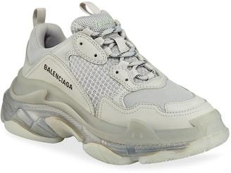 Balenciaga Triple S Air Nylon Sneakers with Logo