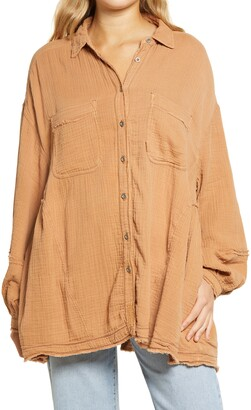 Free People Anaheim Double Cloth Top
