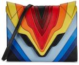 Elena Ghisellini Felina Large Rainbow Leather Clutch