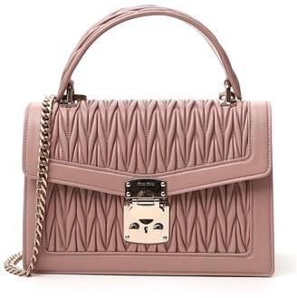 Miu Miu Confidential Matelasse Top Handle Shoulder Bag