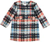 Milly Minis Plaid Felt Cotton & Wool Blend Coat