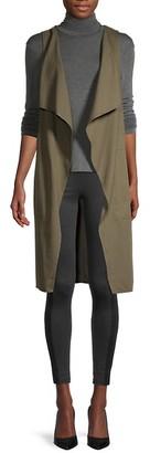 BCBGMAXAZRIA Cotton-Blend Long Vest