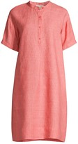 Eileen Fisher Mandarin Collar Linen Shirtdress