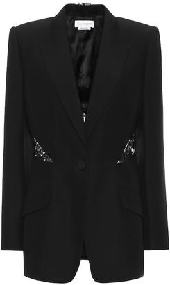 Alexander McQueen Embellished single-breasted blazer