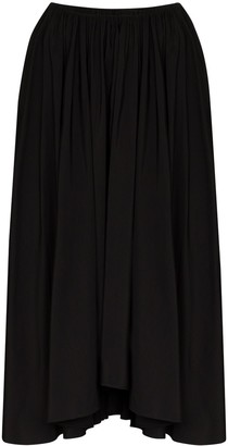 Jil Sander Nasty asymmetric pleated midi skirt