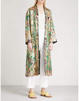 Etro Paisley-pattern silk-jacquard wrap coat