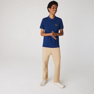 Lacoste Men's Regular Fit Crocodile Badge Cotton Pique Polo Shirt