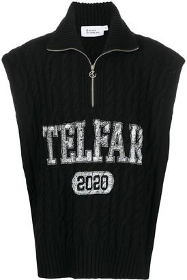 Telfar Zipped Chunky Knit Jumper