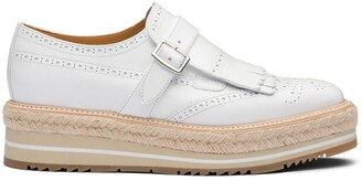 Prada Brushed Leather Buckle Brogues