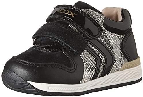 Geox Girl's B RISHON G. B First Walker Shoes, Black/Beige, 23 EU/