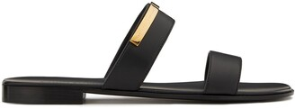 Giuseppe Zanotti Slip-On Logo Plaque Sandals