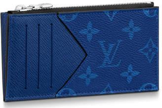 Louis Vuitton Coin Card Holder Monogram Pacific Taiga Blue