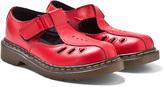 Dr. Martens Red Ashby Infants Cut Out Bar Sandals
