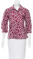 Nina Ricci Printed Button-Up Top