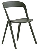 Magis Pila Chair, Wood, Ash Stained Green, 2-Piece