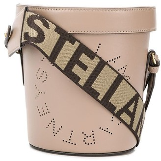 Stella McCartney perforated logo bucket bag
