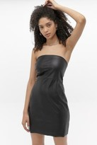 Free People After Hours Faux Leather Mini Dress - black UK 10 at Urban Outfitters