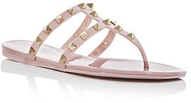 Valentino Women's Rockstud Studded Thong Sandals