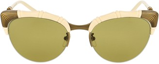 Gucci Bamboo Effect Cat Eye Sunglasses