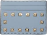 Valentino Blue Rockstud Card Holder