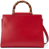 Gucci Nymphaea leather top handle bag - women - Bamboo/Leather/Microfibre - One Size