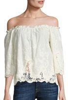 Ella Moss Jaedynn Off-the-Shoulder Embroidered Top
